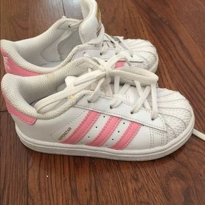 Adidas Pink Superstar...toddler Sz 8